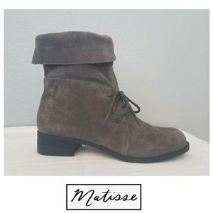 NEW Matisse Leather Suede Boots Grey